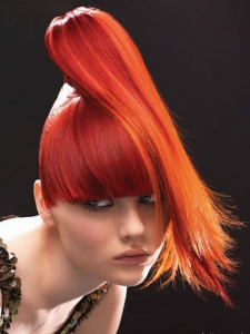 Vibrant Orange Hair Color