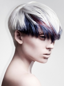 Colorful Bangs Hair Style