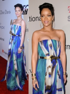 Rihanna in Gucci Maxi Dress