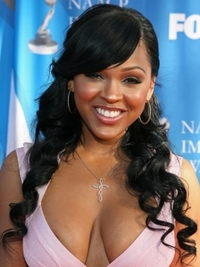 Meagan Good Curly Half Up Half Down Hairstyle