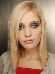 Medium Blonde Long Bob Hair Style