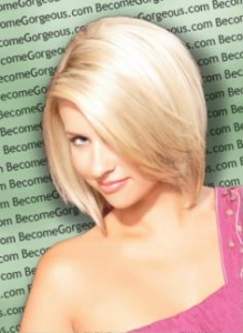 Blonde Graduated Bob Haircut