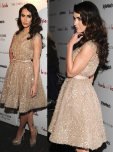 Megan Fox in Elie Saab Cocktail Dress