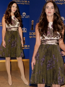 Megan Fox in Giambattista Valli Printed Dress