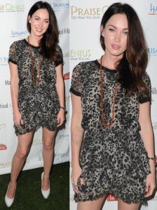 Megan Fox in Isabel Marant Cheetah Print Dress