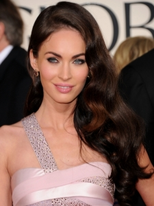 Megan Fox Hairstyle at Golden Globe 2011