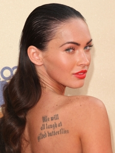 Megan Fox with Curly Wet Look Hairstyle