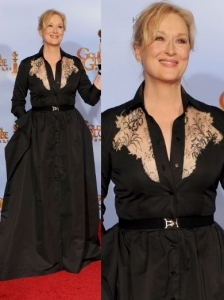 Meryl Streep in Alessandra Rich at 2012 Golden Globes
