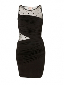 Mesh Wrap Bodycon Dress