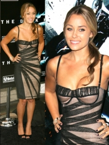 Lauren Conrad in Dolce & Gabban Mesh Bustier Dress