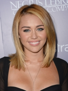 Miley Cyrus Smooth Bob Hairstyle