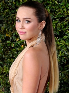 Miley Cyrus Glam Sleek Ponytail
