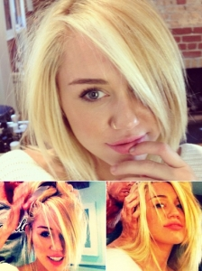 Miley Cyrus New Blonde Bob Hairstyle