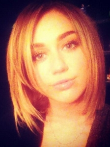 Miley Cyrus New Shoulder-Length Bob Haircut