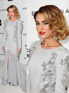 Miley Cyrus in Roberto Cavalli Gown