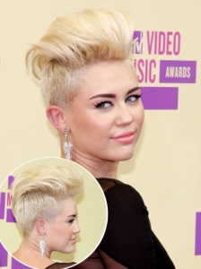 Miley Cyrus Punked Up Short Hair