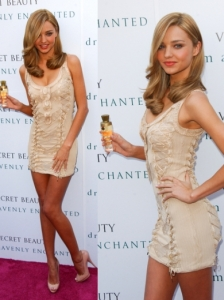 Miranda Kerr in Nude Colored Dress