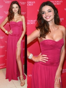 Miranda Kerr in Michael Kors Strapless Gown