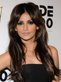 Monica Cruz Long Layered Hairstyle