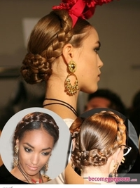 Milkmaid Braids at Moschino