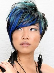 Dapper Colorful Punk Haircut