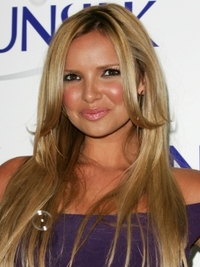 Nadine Coyle Long Glossy Hairstyle