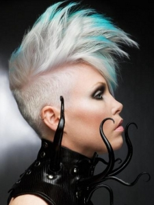 Ultra-Modern Undercut Hair Style with Highlights