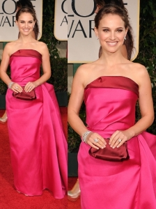 Natalie Portman in Lanvin at 2012 Golden Globes