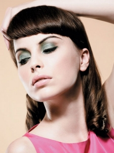 Medium Pin-Up Hair Style