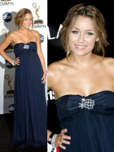 Lauren Conrad in Own Design Navy Gown