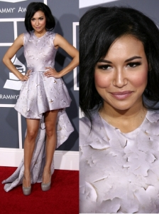Naya Rivera in Silver Mullet Dress