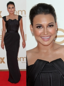 Naya Rivera in Lloyd Klein Black Gown