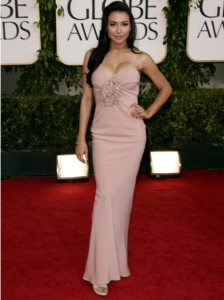 Naya Rivera in Douglas Hannant Gown