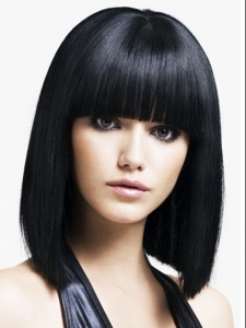 Medium Graphic Bob Hair Style