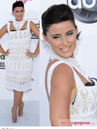 Nelly Furtado in Alberta Ferretti Crochet Dress