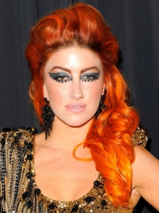 Neon Hitch Half Up Hairstyle