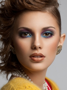 Colorful Party Makeup Idea
