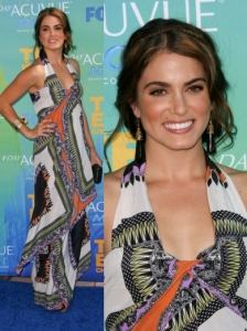 Nikki Reed in Etro Printed Dress