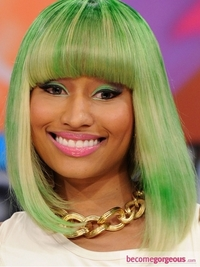 Nicki Minaj Green Makeup