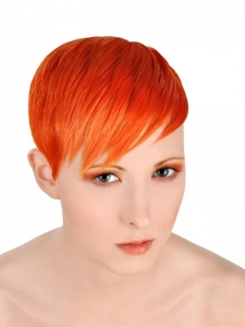 Short Orange Pixie Hair Style