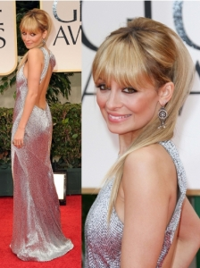 Nicole Richie in Julien MacDonald at 2012 Golden Globes