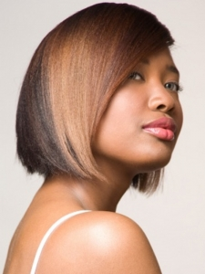 Medium Two Tone Hair Style