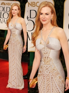 Nicole Kidman in Versace at 2012 Golden Globes