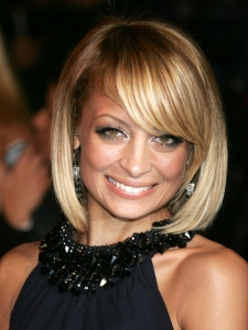 Nicole Richie's Bob Haircut with Side Bangs