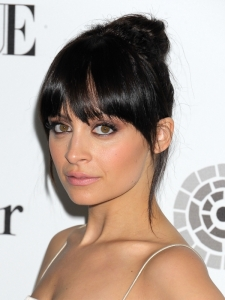Nicole Richie Updo with Full Bangs
