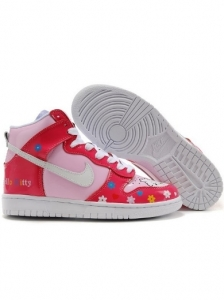 Nike Dunk Hi Colourful Flower Hello Kitty Shoes