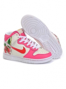 Nike High Floral Pink White Sneakers