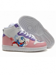 Nike High Top Hello Kitty Butterfly Sneakers