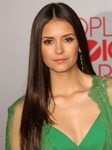 Nina Dobrev Long Straight Hairstyle