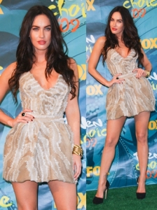 Megan Fox in Yves Saint Laurent Resort Dress